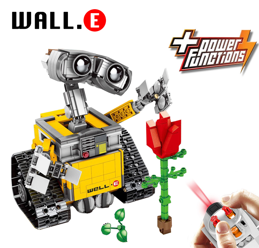 687 RC Remote Control WALL E Robot figure Building Blocks Bricks DIY Toys gifts Compatible with Legoingly Technic 21303687 RC Remote Control WALL E Robot figure Building Blocks Bricks DIY Toys gifts Compatible with Legoingly Technic 21303