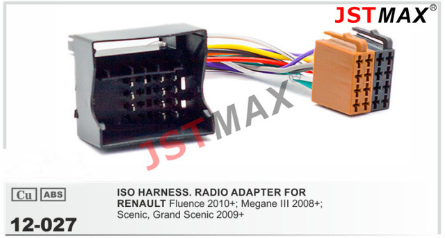 JSTMAX Auto Stereo ISO Radio stecker für Renault Fluence Megane III ...