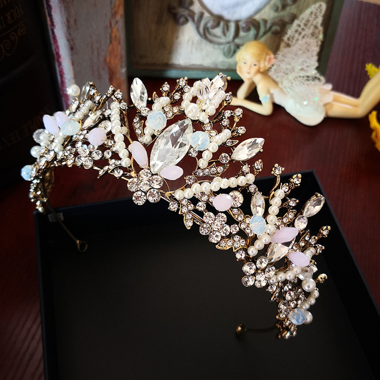 vintage Baroque crown brides queen large tiara wedding hair accessories Taobao hot sale ...