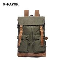 G FAVOR Shoulder Strap Solid Casual Bag Male Canvas Backpack School Bag Large Capacity Designer Backpacks