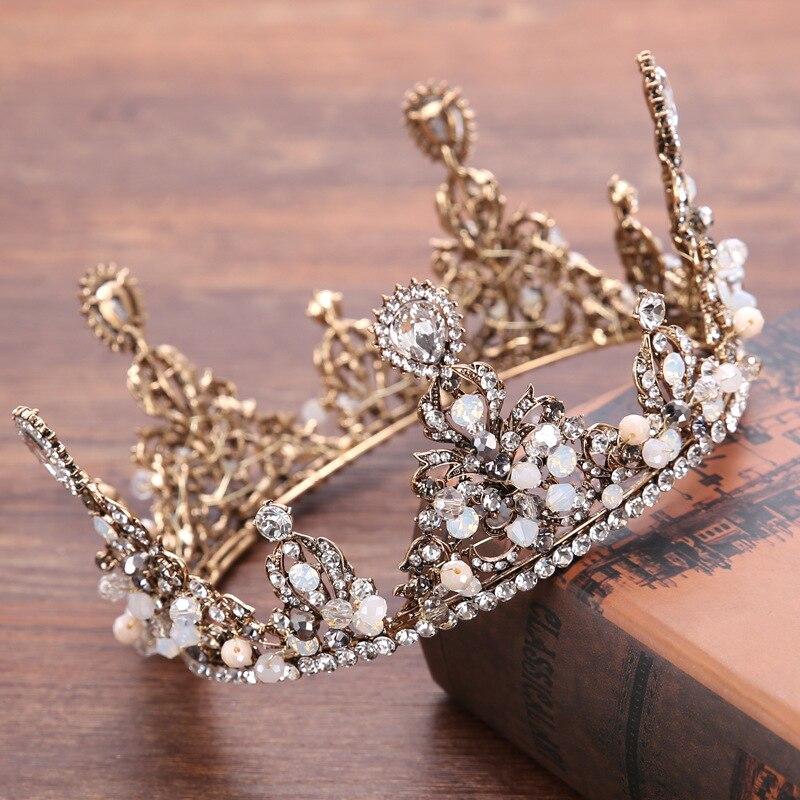 kmvexo baroque vintage gold crystal