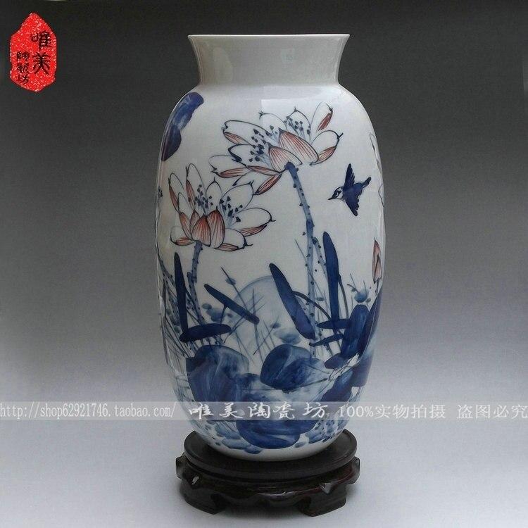Ceramics blue and white porcelain vase ceramic bottle gourd crafts decorationCeramics blue and white porcelain vase ceramic bottle gourd crafts decoration