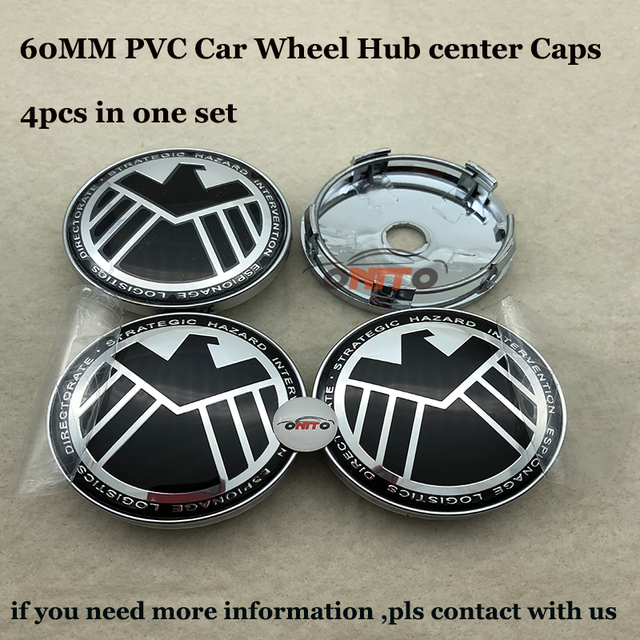 Pcsset Mm Agents Of Eagle Car Wheel Hub Center Caps Auto Emblem - Audi wheel center caps
