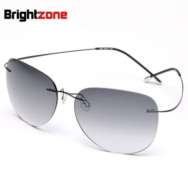 6048dcdce07b0 Alta qualidade Novos Óculos de Armação De Titânio Óculos Sem Aro Gradiente  das mulheres Dos Homens