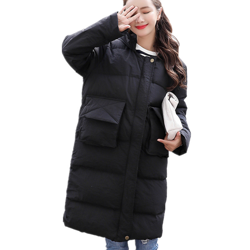 Yellow Hooded Thick Cotton Padded Loose Coat Women Casual Chic Winter Jacket Manteau Femme Warm Women Winter Parka TT3512 winter jacket women pregnant oversized coats thick long parka hooded loose outwear cotton winter coat women manteau femme c3811