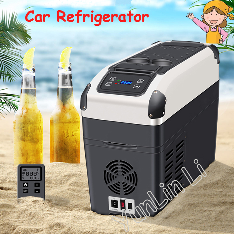 16L Car Refrigerator Electric Fridge For Travel Portable Cooler Warmer Truck RV Mini Car Home Use DC12V/24V RY-YT-E-16P 60l lpg gas refrigerator fridge mini portable propane electric ac110v 220v dc12v reversible door caravan cooler for car rv boat