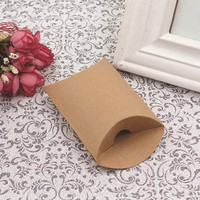 50Pcs Lot Fashion Kraft Paper Pillow Candy Box Wedding Favor Gift Party Supply Burlap Twine