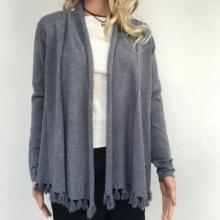 2016 Autumn New Women's Elegant Tassel Cardigan Sweaters Scarf Cape Outwear Good Quality Knitted Coat
