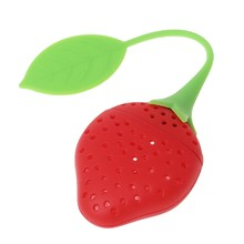 5/10x Silicone Strawberry Tea Leaf Strainer Herbal Spice Infuser Filter Diffuser(China)