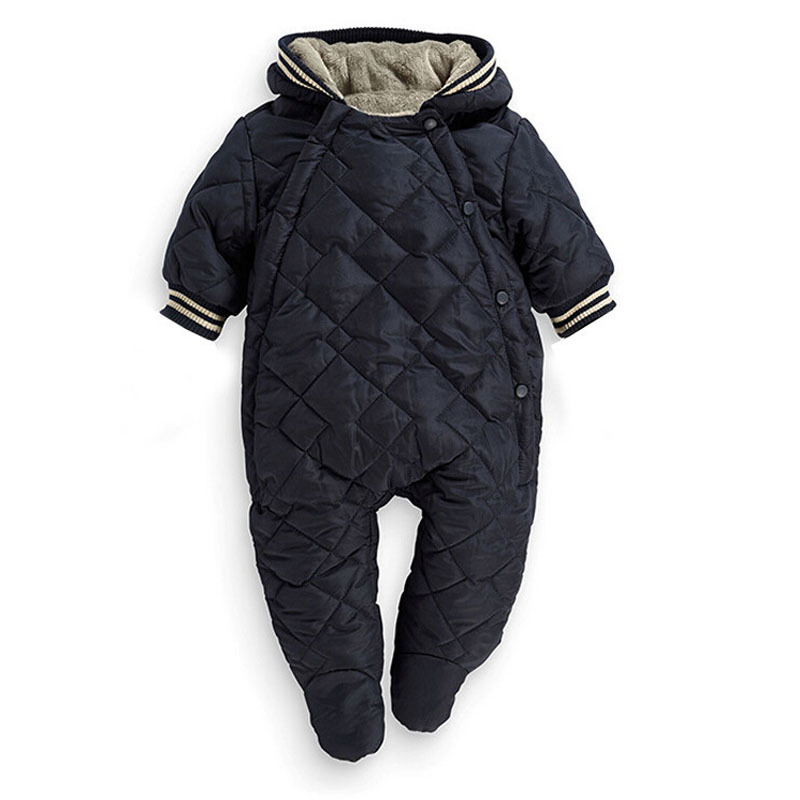 Baby Winter Romper Boys Winter Clothes Thick Warm Baby Jumpsuits newborn baby Jumper infantil menino brimix 3706