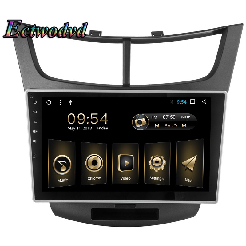 Ectwodvd 2018 Newest Octa Core Android 8.1 Car Radio Stereo GPS Navigation for Chevrolet Sail 3 2015 Auto DVD Multimedia Player