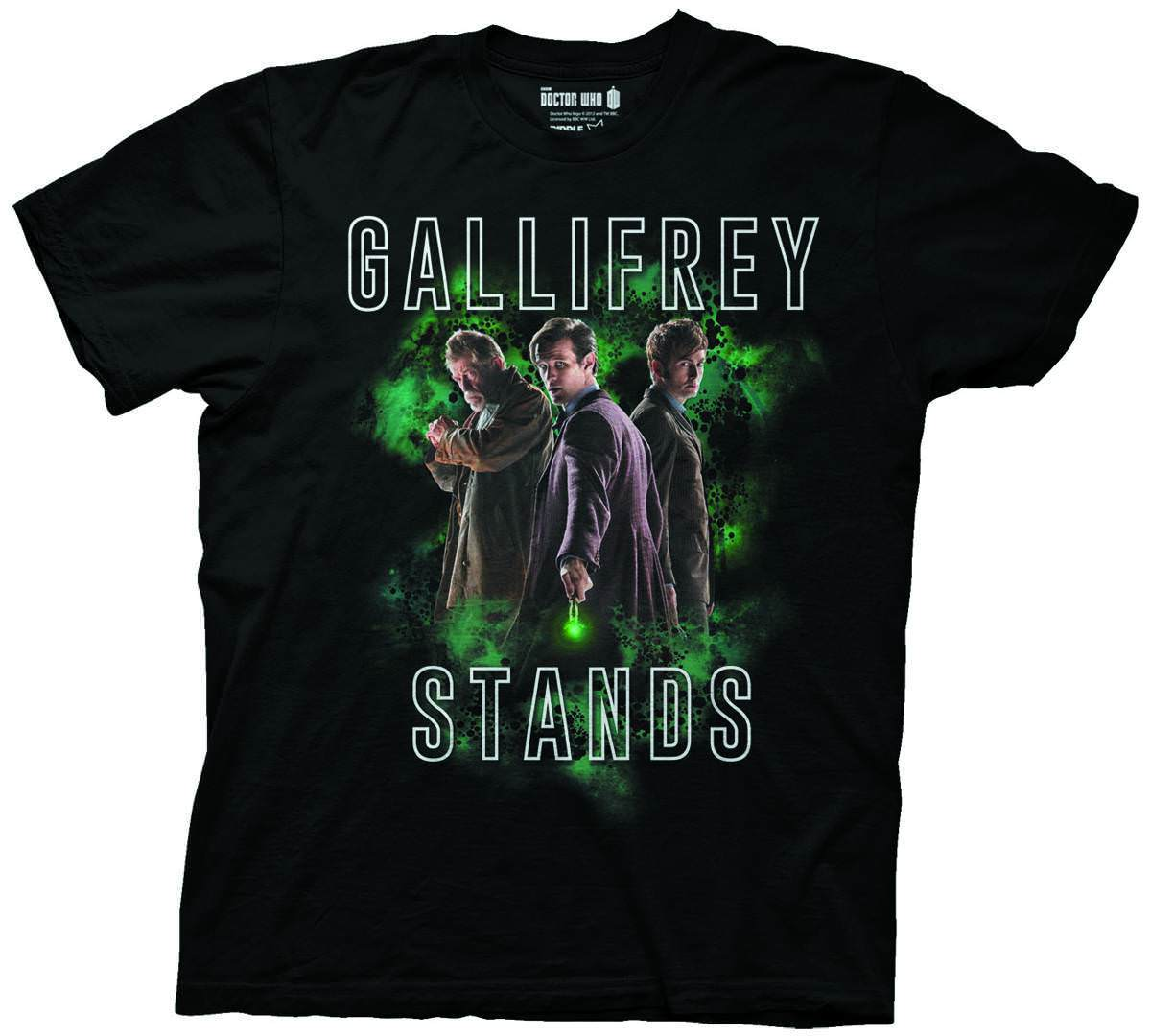 Doctor Who Gallifrey Stands Mens Black T-Shirt Printed T Shirt Men Cotton T-Shirt New Style O-Neck T shirt Homme