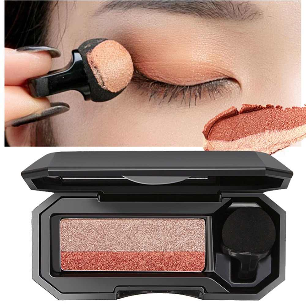 Lazy Double-Color Eyeshadow Palette Waterproof Smudge-Proof Easy To Use Bicolor Eye Shadow