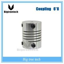 ЧПУ Шагового Двигателя Датчика Муфта D20 L25 6*8 мм Гибкий Вал Муфта 3D0076 для 3D ЧАСТИ ПРИНТЕРА