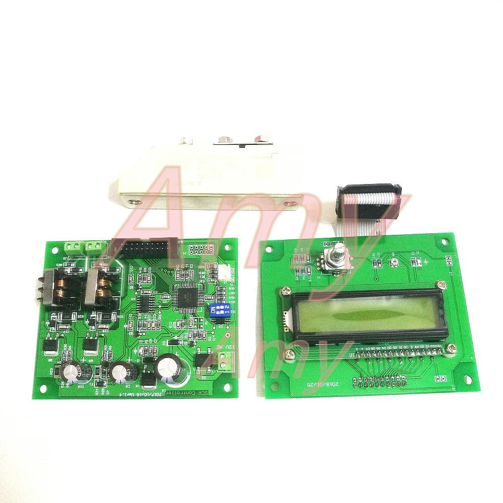 Battery spot welding control panel 16 single chip microcomputer control 1602 LCD encoder double pulse Domestic