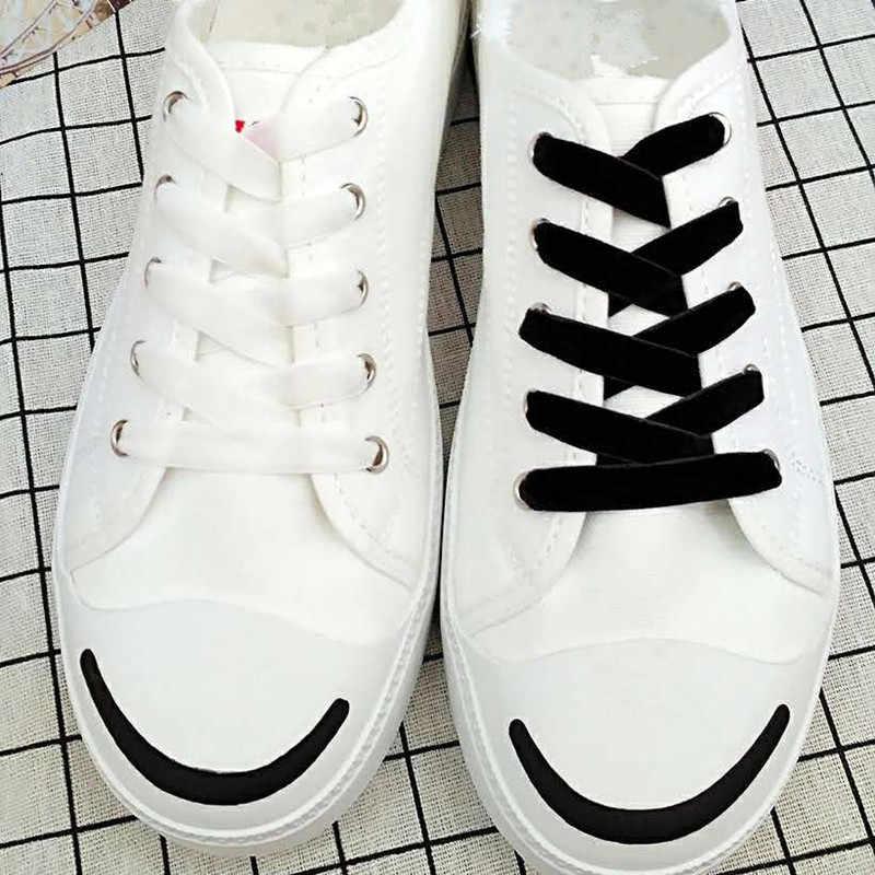 Moda Kadife Ayakkabı Bağı Kadınlar Vintage Moda 120 cm Çizmeler Ayakabı Şerit Tek Taraflı Çok Renkli Atletik Spor Ayakkabı Dantel Dizeleri