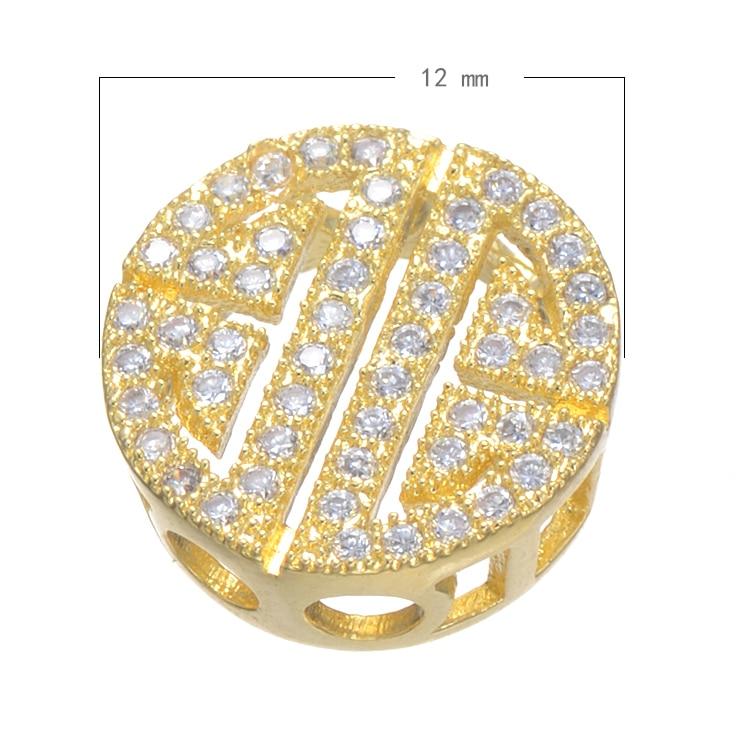 Simple Fashion Geometric Charm Beads Micro Pave Jewelry s