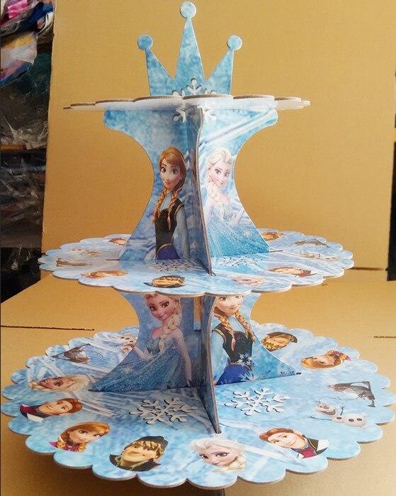 Princess 3-Tier Cupcake seista magustoit lauapidu teenetemärgi - Pühad ja peod - Foto 2