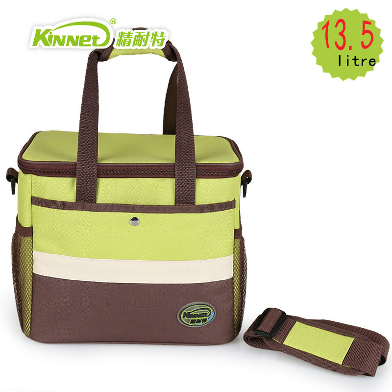 US $25 0 50% OFF|KinNet Cooler bag thickened thermal insulation bag fabric  of Oxford aluminum foil liner 13 5L portable fresh keeping Lunch bag-in