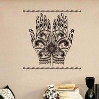 Hurtownie Hamsa Ręce Arabski Islamska Naklejki Ścienne DIY Wymienny Art Home Decor adesivo de parede Vinyl Kalkomania Ścienna Do Sypialni