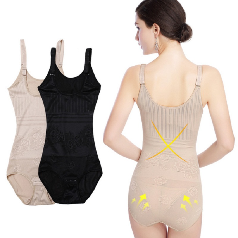 a5d0444c68b93 Detail Feedback Questions about Women Body Shapers Waist Cincher Trainer  Tummy Corsets Bustiers Bodysuits Body Slimming Thin Shapewear Black Nude  Q933 on ...
