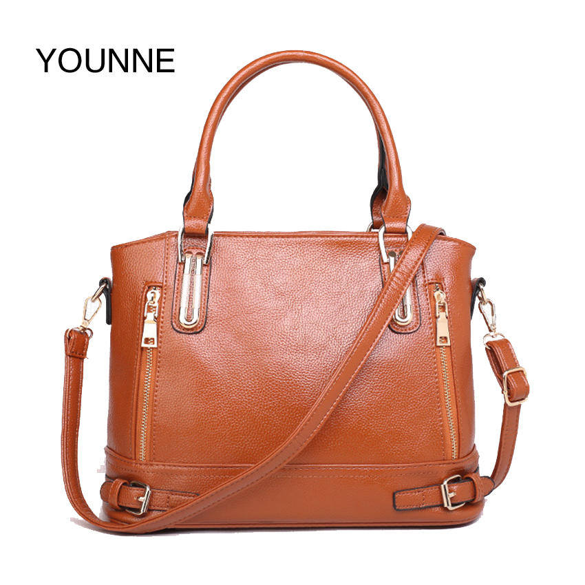 YOUNNE High Quality Brand Fashion Women's Shoulder Bag Business PU Leather Bag For Women Brown Ladies Crossbody Bag Motocycle сумка hidesign business fleming 03 fleming 03 brown