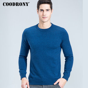 Image 5 - Свитер COODRONY мужской из мериносовой шерсти, Классический Повседневный пуловер с круглым вырезом, мужские зимние толстые теплые кашемировые свитера, модель 315