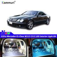 22pcs White Canbus led Car interior lights Kit for Mercedes Benz CL Class CL500 W215 C215 1999 2006 LED interior light Kit