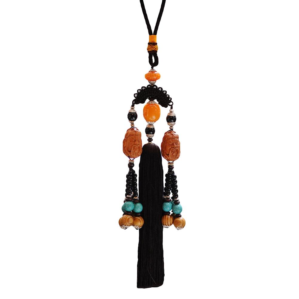 Automobiles & Motorcycles Otomobil Aksesuar Chinese Style Carved Guan Yu Lucky Blessing Car Interior Pendant Hanging Decor Accessori Auto Aromatic Flavor Interior Accessories