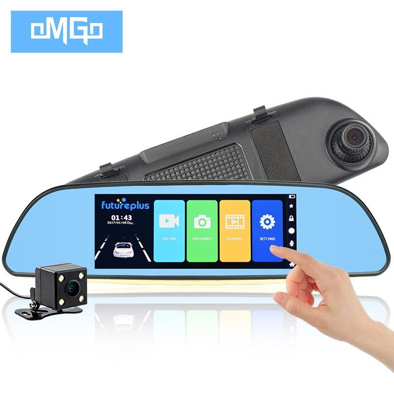 Dual Lens Car Camera 7 Touch Screen Rearview Mirror Auto DVRs Cars Dvr Full HD1080p Night