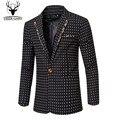 2016 Autumn Winter Mens Business  Blazer Jackets  Casual Slim Fit Men Blazer Groom wedding dress Size M-XXXL