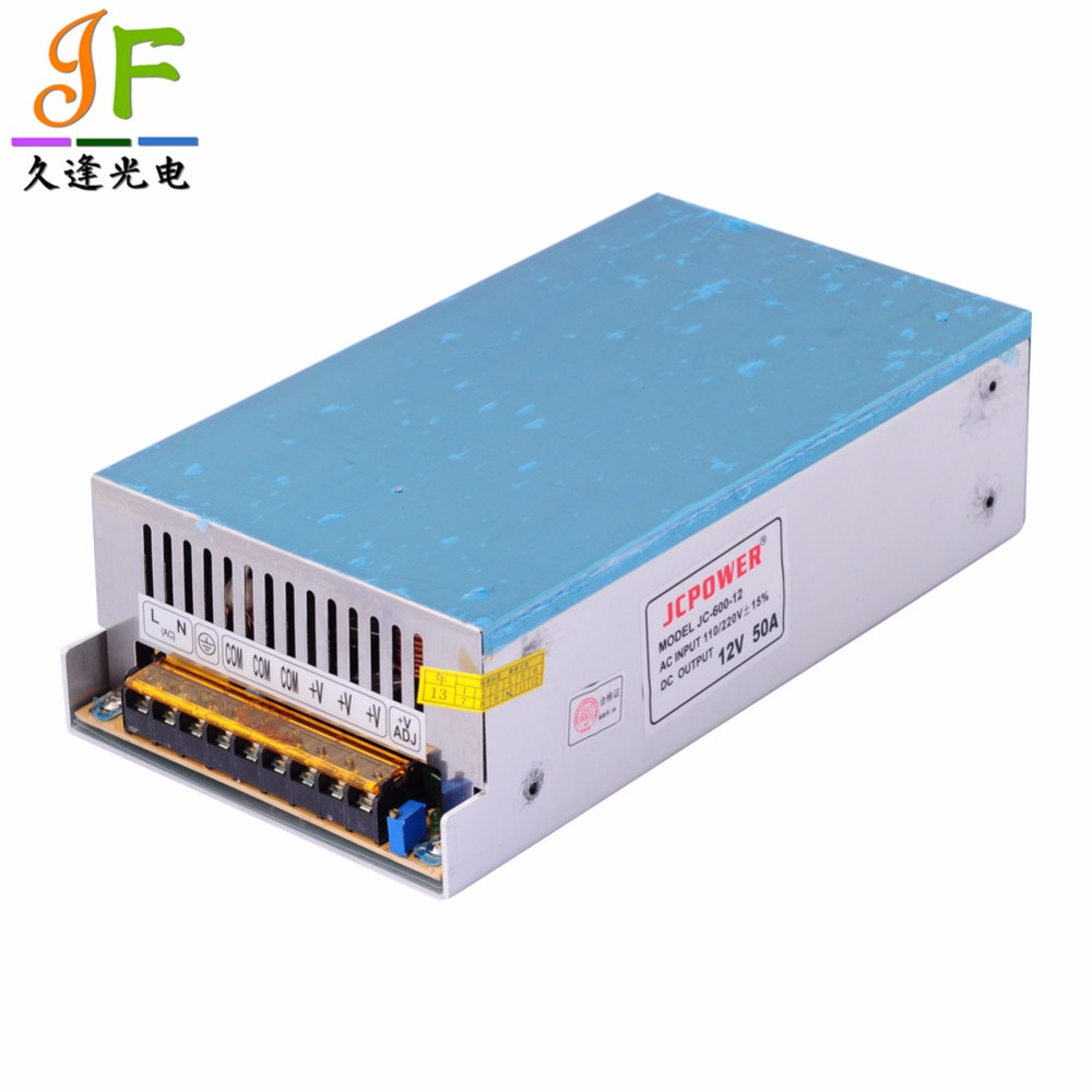 Lights & Lighting Delicious Customized 12v 50a 600w Switching Power Supply Driver For Led Strip Ac 100/220v Input To Dc 12v Soft And Light