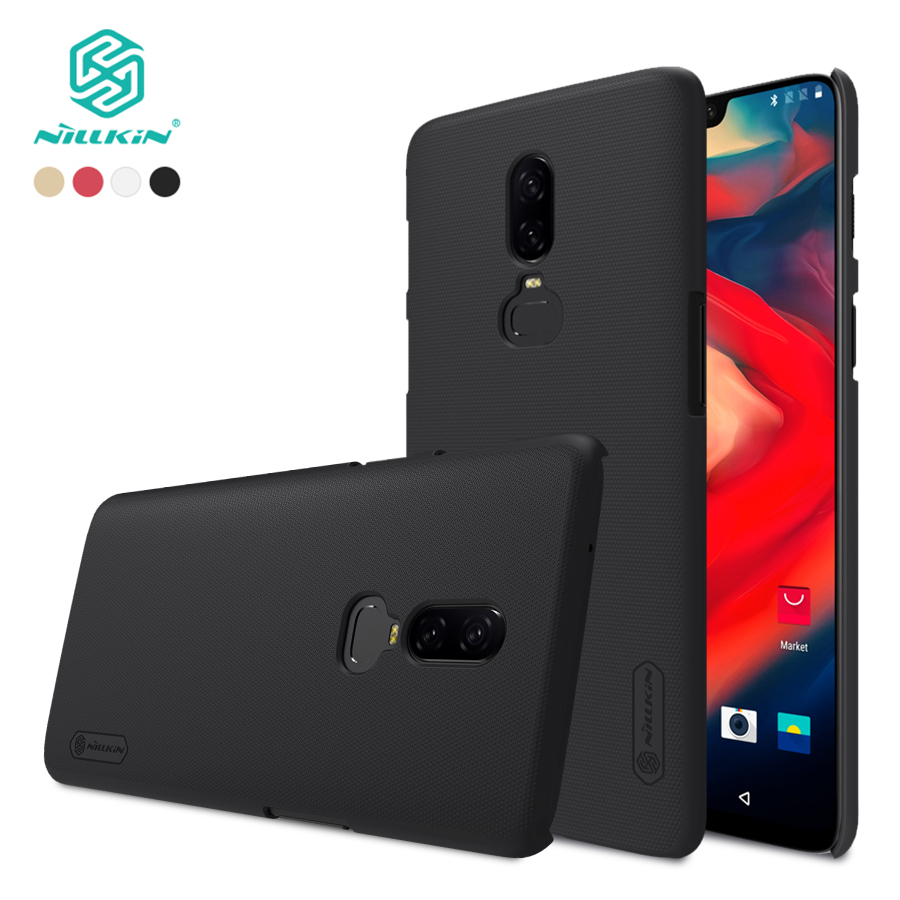For oneplus 6 case cover 6.28 inch NILLKIN Frosted PC Matte hard back cover with Gift Screen Protector one plus 6 Phone Case
