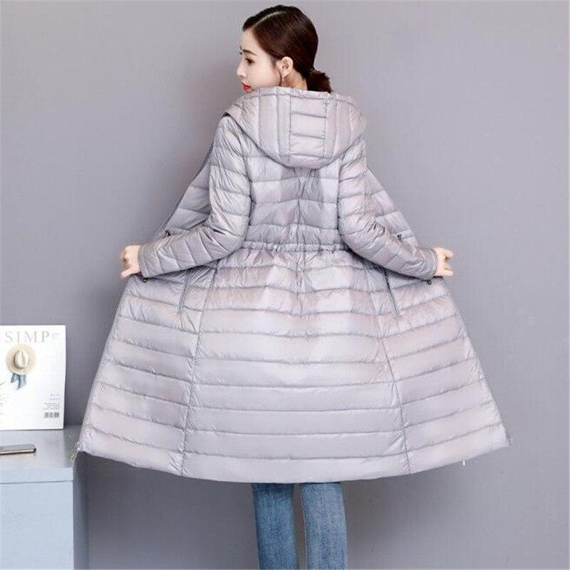 2019 Long Women Winter   Down   Jacket Women's Parka Ultra Light Weight 90% Duck   Down     Coat   Female Outerwear