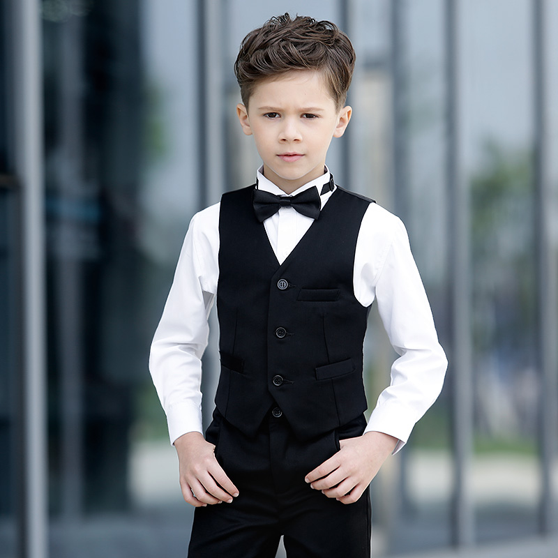 2017 High Quality Toddler Boys Long Sleeve Children's Day Chorus Show/Performance/Wedding Groom 4pcs/set Formal Blazer Suit Set tommy hilfiger th1781086