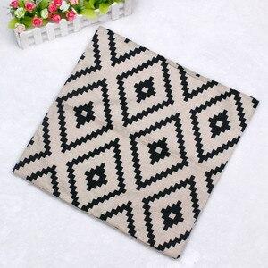Image 2 - Funda de almohada con patrón geométrico moderno Simple 45cm * 45cm Lino nueva y de alta calidad funda de cojín hogar café decorativo