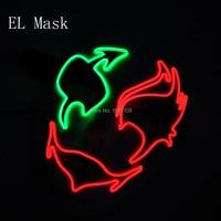 Kostenloser versand Ton Aktiviert Glow Party prop Shuffle Dance mask masquerade mask Plastic Für Mode halloween Dekoration