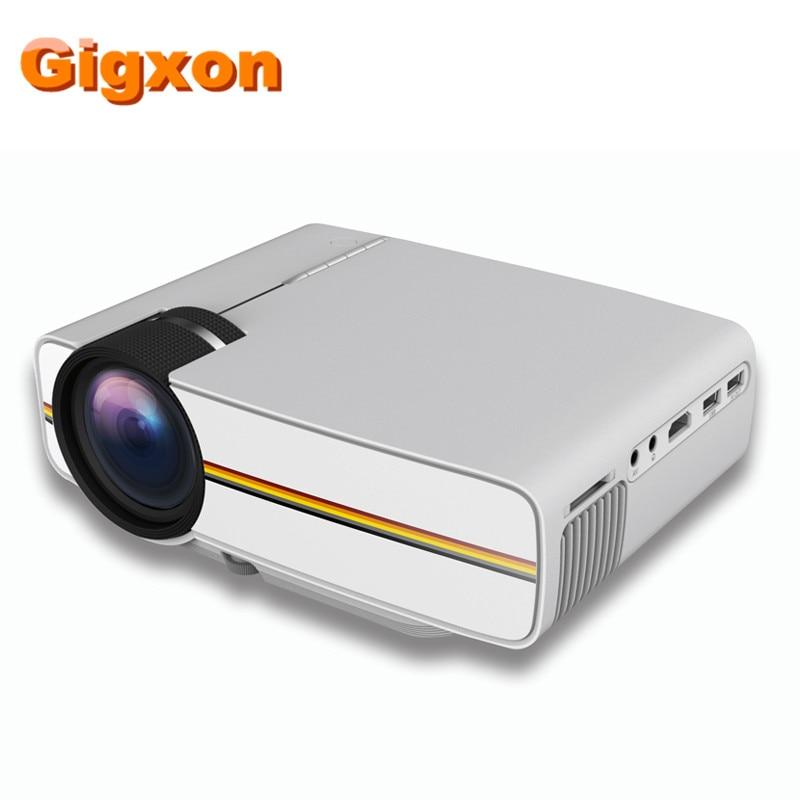 Gigxon G400Y new mini LCD projector 800 480P 1000 lumens 16 7K color input USB S