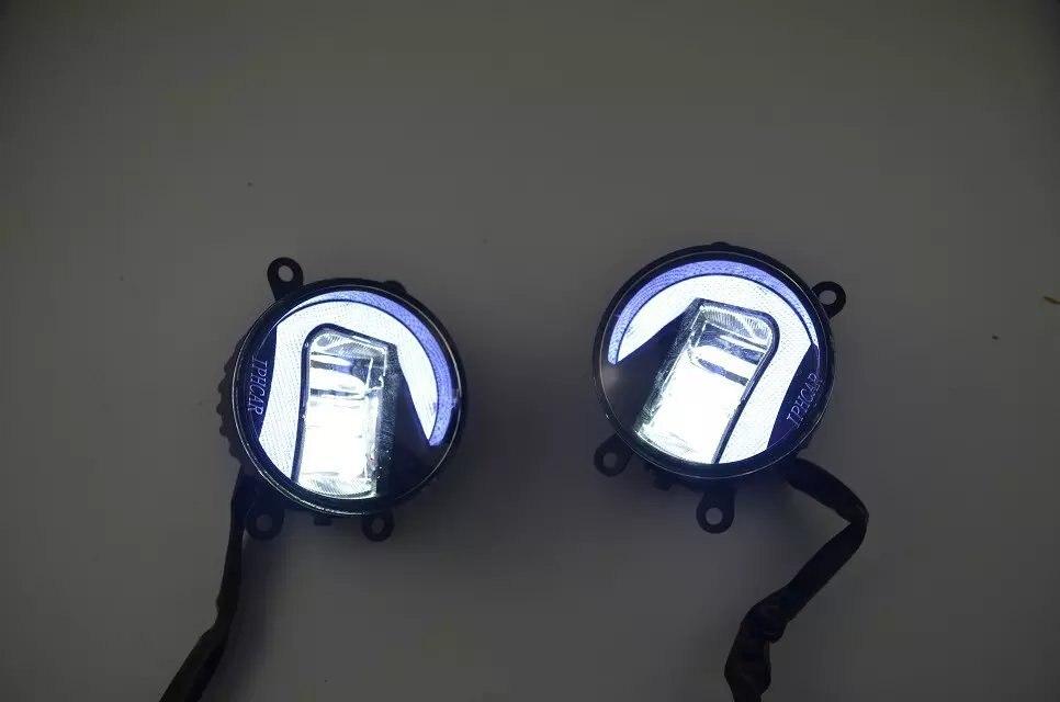LED DRL 20W Fog Lamp for toyota corolla camry puris prado hilux vigo verso highlander wish rav4 estima sienna avalon