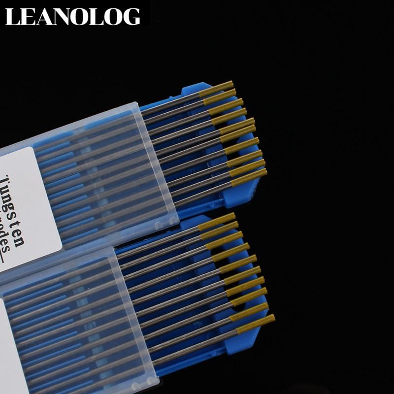 10 штук в партии головы лантан Tungste электрод 1,6/2,0/2,4/3,0/3,2/4,0X150 мм TIG Вольфрам с мультиигловой системой/Вольфрам стержень/vdc