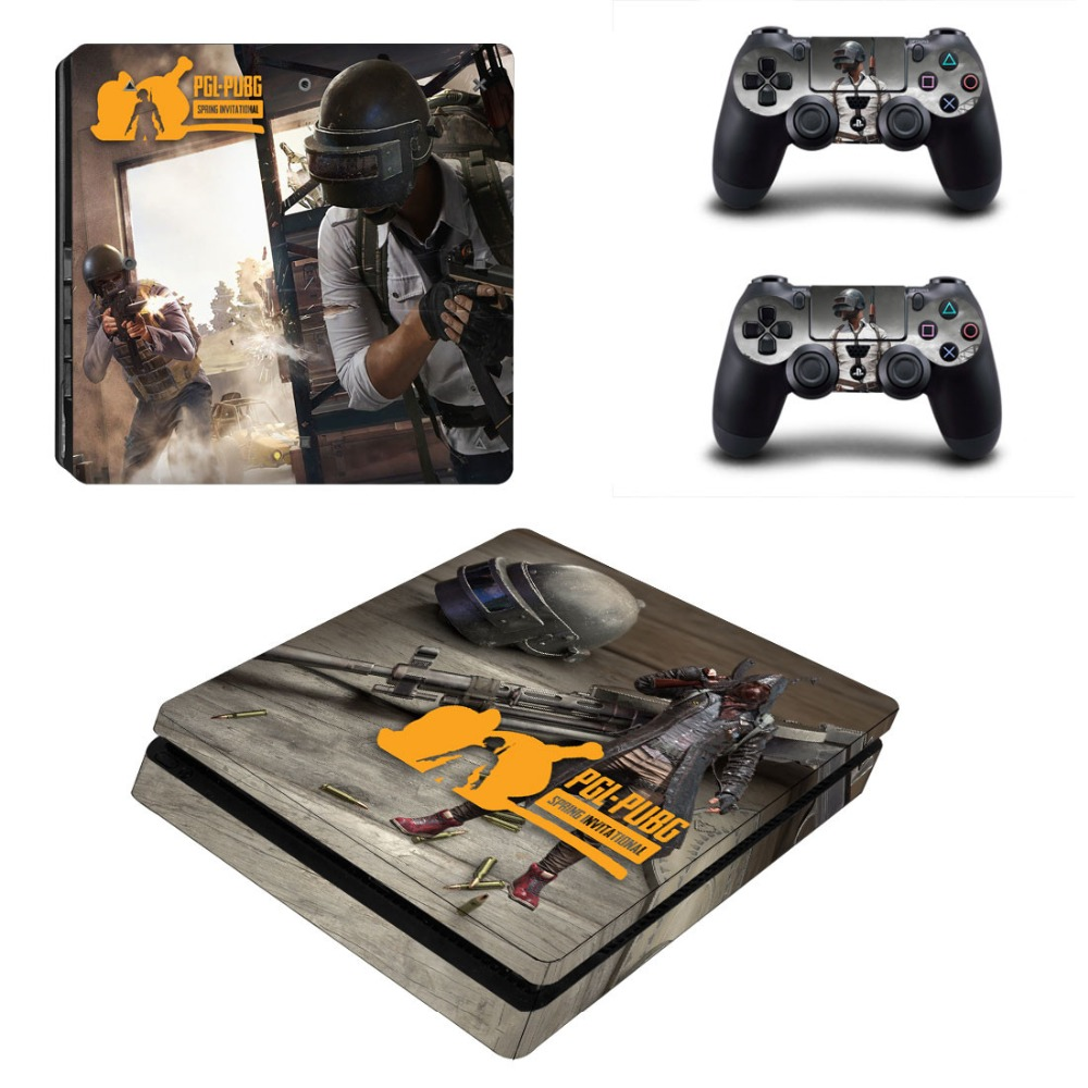 Us 879 12 Offpubg Ps4 Slim Skin Sticker For Sony Playstation 4 Console And Controller Decal Ps4 Slim Sticker Vinyl In Stickers From Consumer
