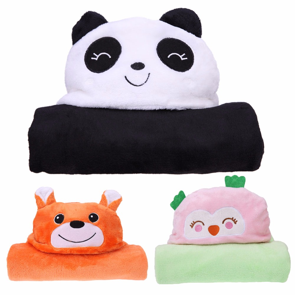 cute Animal shape baby hooded bathrobe bath towel baby fleece receiving blanket neonatal hold to be Bathing Blanket Towel ...