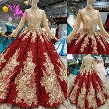 Aijingyu人気ウェディングドレスセクシーなガウンアパレルシンプルモロッコ冬婚約bridalwear 2021 2020ウェディングドレス
