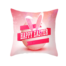цена на 2019 Easter Decoration Cushion Cover Bunny Eggs Pillowcase Covers Chair  Sofa Home Car Decor Square Pillow Case Happy Easter