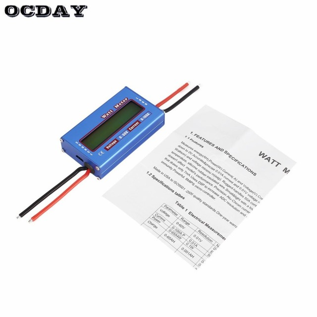 Digital Balance Voltage Power Watt Current Energy Meter Analyzer Tester Checker for RC Drone Battery 60V 100A Wattmeter ht