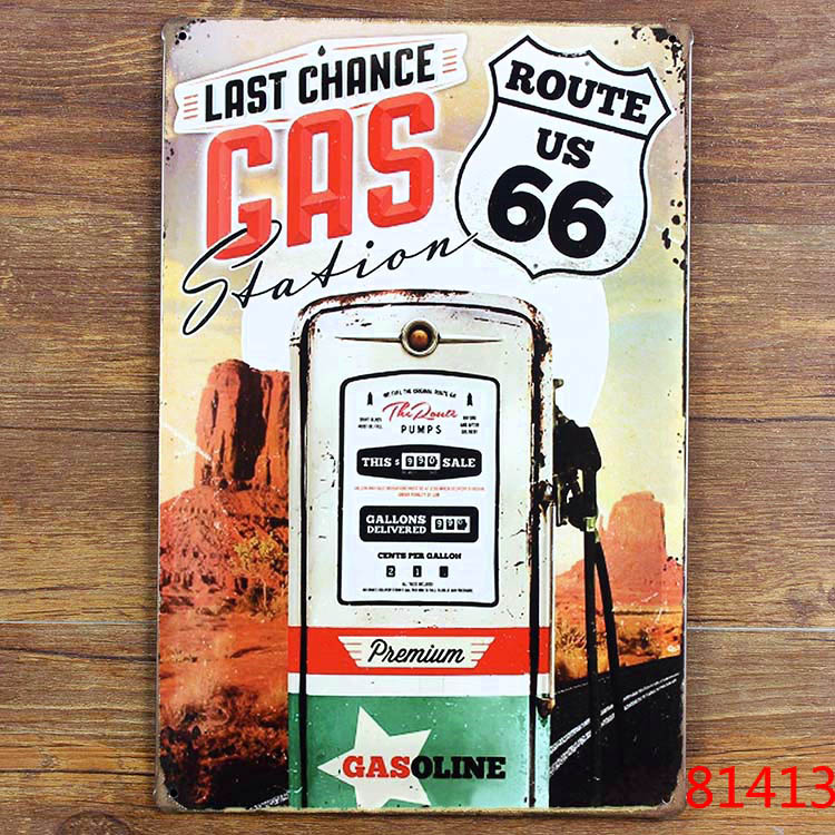 metal tin signs vintage bar home coffee wall art decor route 66