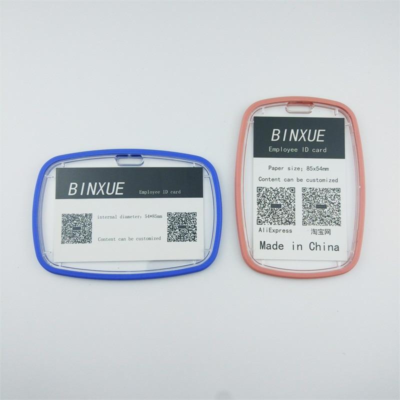 BINXUE Employee ID card Double sided visible acrylic
