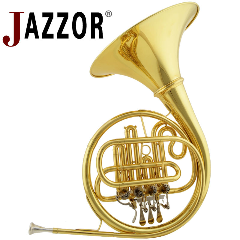 JAZZOR JBFH 700 french horn B flat separated bell brass body 4 key french horn gold lacquer instruments