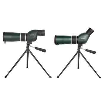 Lente 20-60X Zoom HD Monocular al aire libre telescopio IPX7 a prueba de agua Spotting Scope con trípode para ver aves de turismo