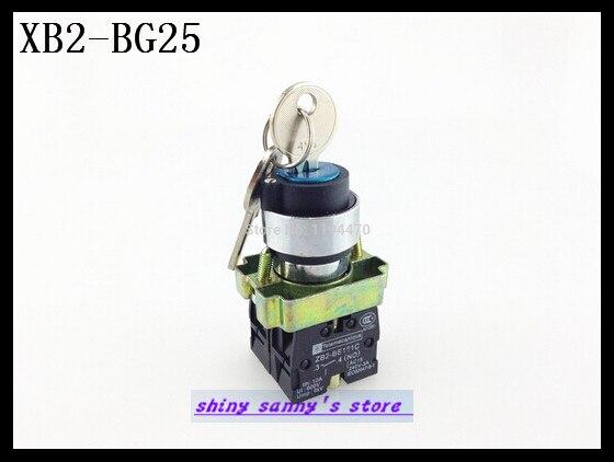 10 шт./лот XB2-BG25 2 Положение 1 NO 1 NC n/o n/c заблокирован поддерживается ключом селектор переключатель